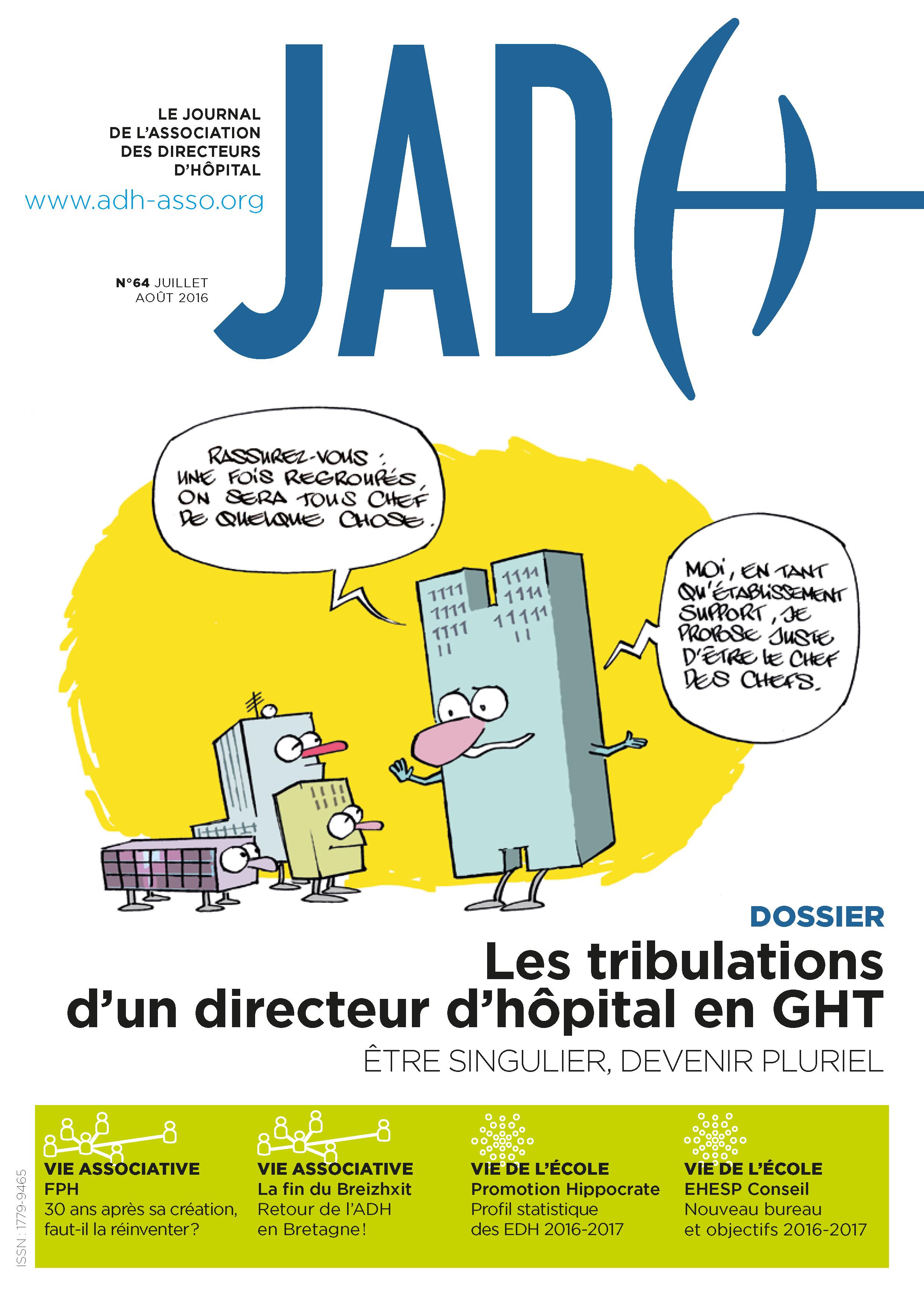 JADH 64 – juillet/août 2016