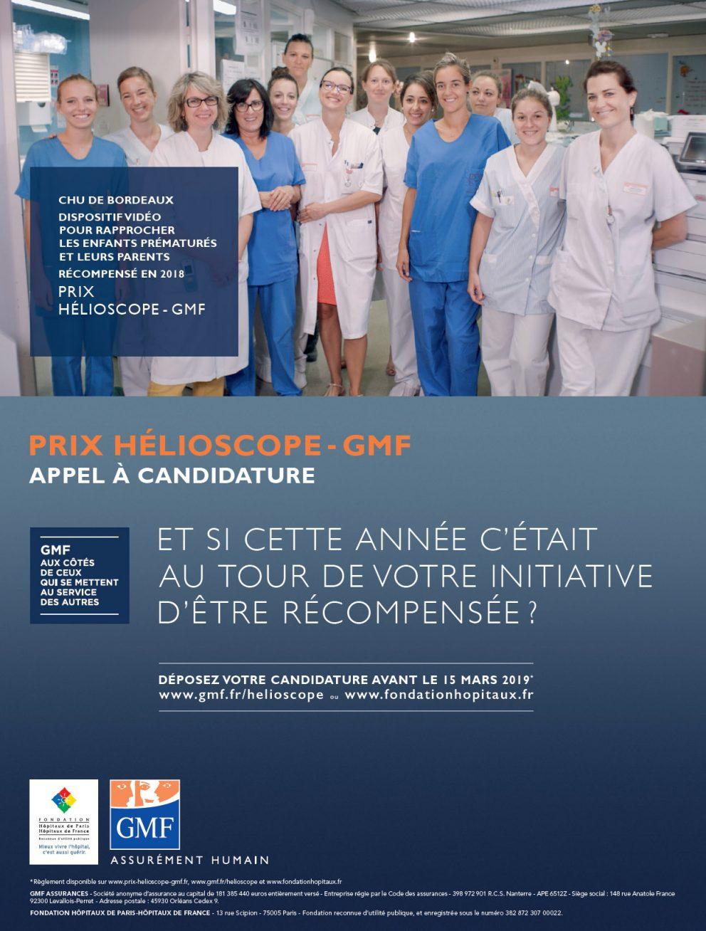 Appel à candidatures – Prix Hélioscope -GMF du 5 janvier au 15 mars 2019