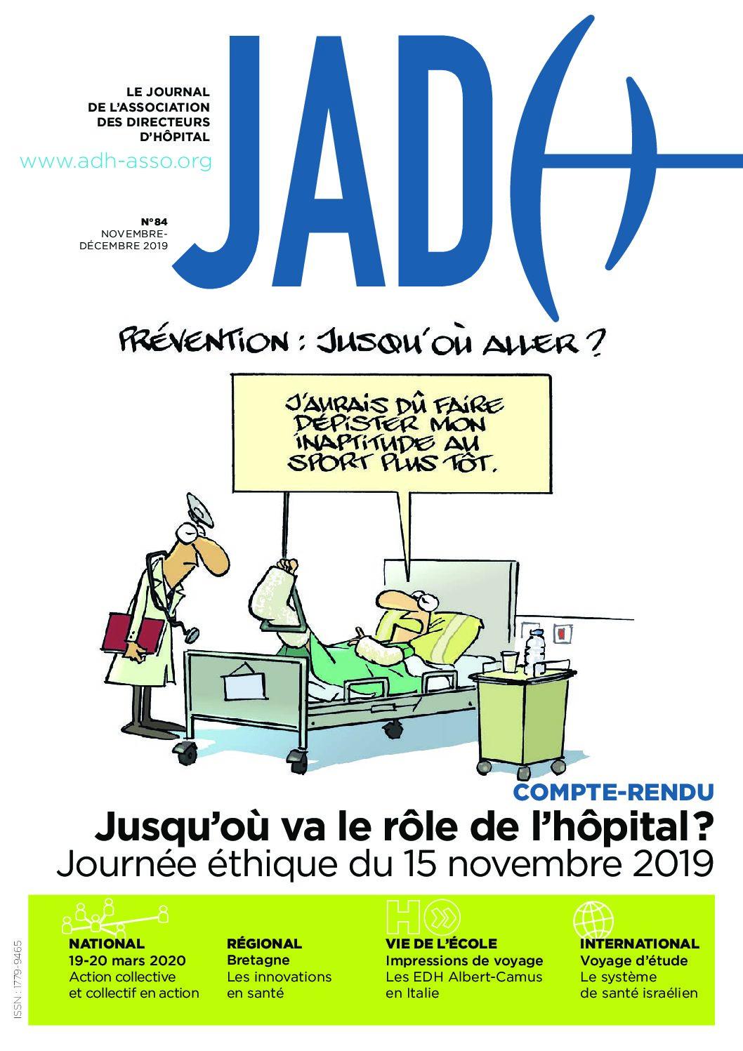 JADH 84 novembre/décembre 2019