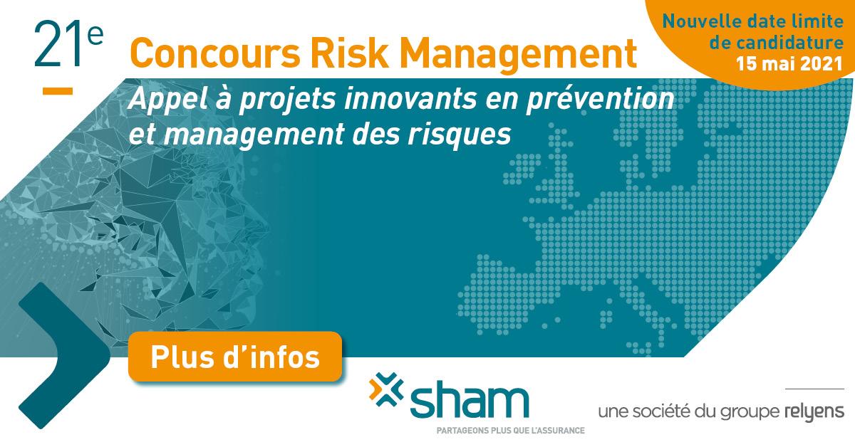 Concours Risk Management Sham 2021 – Nouvelle date limite de candidature (15 mai)