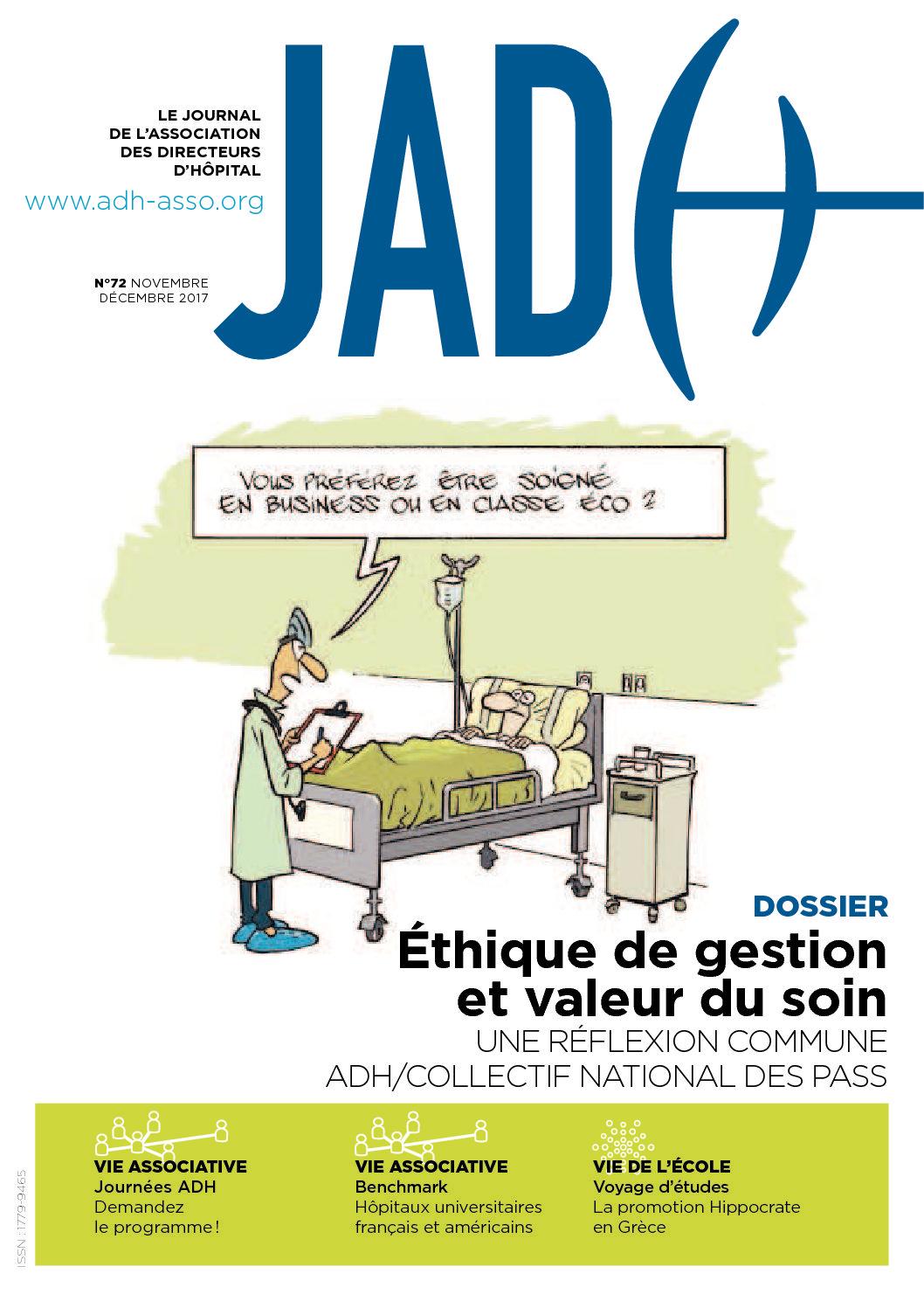 JADH 72 – novembre/décembre 2017