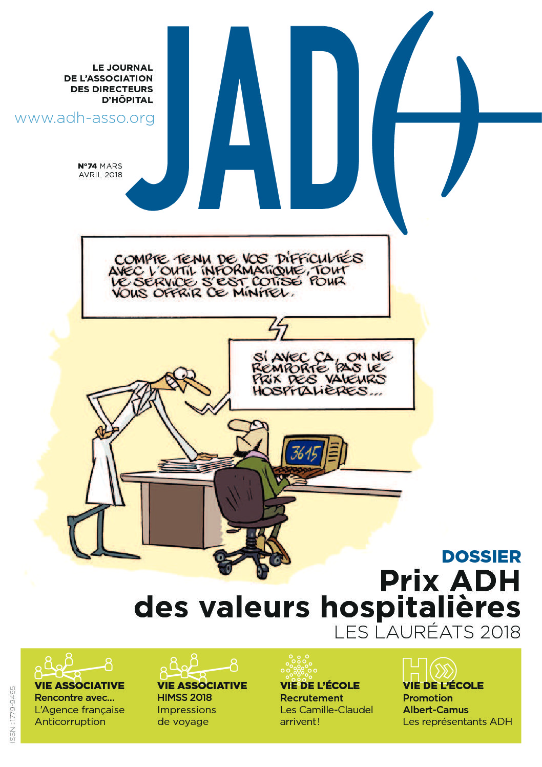 JADH 74 – mars/avril 2018